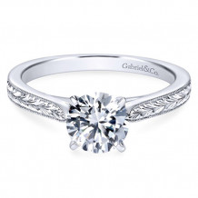 Gabriel & Co. 14k White Gold Round Solitaire Engagement Ring - ER7223W4JJJ