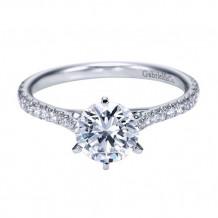 Gabriel & Co. 14k White Gold Round Straight Engagement Ring - ER7431W44JJ