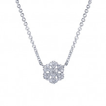 Gabriel & Co. 14k White Gold Snowflake Shaped Necklace - NK3726W45JJ