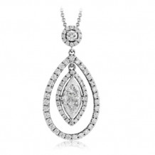 Simon G. 18k White Gold Diamond Pendant