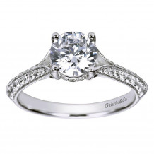 Gabriel & Co 14k White Gold Round Split Shank Engagement Ring - ER6286W44JJ