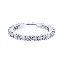 Gabriel & Co. 14k White Gold Contemporary Diamond Eternity Wedding Band - AN11248-4W44JJ