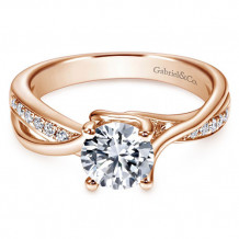 Gabriel & Co. 14k Rose Gold Round Bypass Engagement Ring - ER6360K44JJ