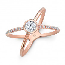 Rahaminov 18k Rose Gold Diamond Free Form Ring