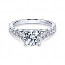 Gabriel & Co 14k White Gold Cameron Diamond Engagement Ring - ER12277R4W44JJ