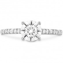 Hearts on Fire 18k White Gold Cali Chic Diamond Straight Engagement Ring - HBSCALC00188WC-C