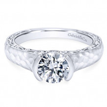 Gabriel & Co. 14k White Gold Round Solitaire Engagement Ring - ER9058W44JJ