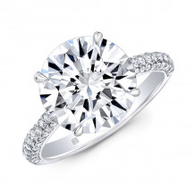 Rahaminov 18k White Gold Striaght Engagement Ring