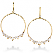 18k Gold Aerial Eclipse Earrings