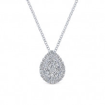 Gabriel & Co. 14k White Gold Diamond Pendant - NK3789W45JJ