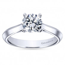 Gabriel & Co 14k White Gold Round Solitaire Engagement Ring - ER8296W4JJJ