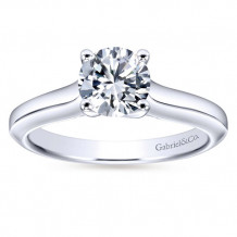 Gabriel & Co 14k White Gold Round Solitaire Engagement Ring - ER6611W4JJJ