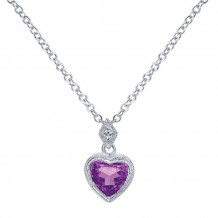 Gabriel & Co. 14K White Gold Eternal Love Amethyst Necklace NK2309W45AM