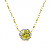 Gabriel 14K Yellow Gold Lusso Color Lemon Quartz Necklace NK4616Y45LQ