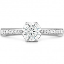 Hearts on Fire 18k White Gold Signature Diamond Straight Engagement Ring - HBSDSIG00128WC-6P-C