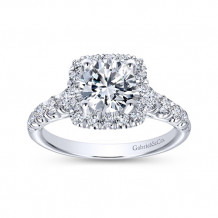 Gabriel & Co 14k White Gold Round Halo Engagement Ring - ER10909W44JJ
