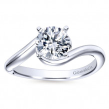 Gabriel & Co 14k White Gold Round Bypass Engagement Ring - ER6678W4JJJ