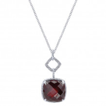Gabriel & Co. 14K White Gold Hampton Garnet Necklace NK2642W44GN