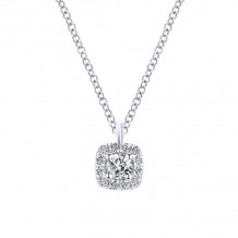 Gabriel & Co. 14k White Gold Messier Diamond Necklace - NK5593W45JJ