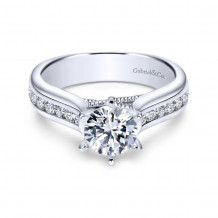 Gabriel & Co. 14k White Gold Contemporary Straight Engagement Ring - ER4185W44JJ