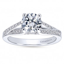 Gabriel & Co 14k White Gold Round Split Shank Engagement Ring - ER6389W44JJ