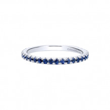 Gabriel & Co. 14k White Gold Blue Sapphire Stackable Ring - LR50889W4JSB