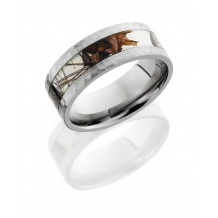 Lashbrook Titanium Camo Flat Wedding Band - 8F14_WINTERBREAKUP