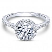 Gabriel & Co. 14k White Gold Round Halo Engagement Ring - ER6419W44JJ