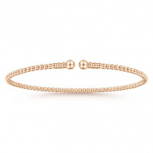 Gabriel & Co. 14k Rose Gold Bujukan Bangle Bracelets - BG4107-7K4JJJ