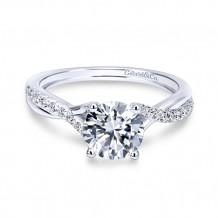 Gabriel & Co. 14k White Gold Round Twisted Engagement Ring - ER11794R3W44JJ