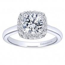 Gabriel & Co 14k White Gold Round Halo Engagement Ring - ER6873W44JJ