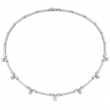 18k Gold Aerial Diamond Line Necklace