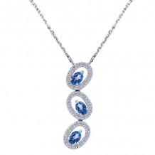 Gabriel & Co. 14k White Gold Lusso Color Sapphire Necklace - NK994W44SA