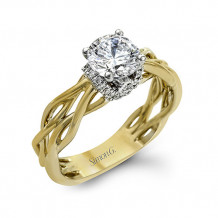 Simon G. 18k Two-Tone Gold Diamond Engagement Ring