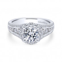 Gabriel & Co. 14k White Gold Straight Diamond Engagement Ring - ER12610R4W44JJ