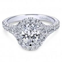Gabriel & Co. 14k White Gold Oval Halo Engagement Ring - ER10291W44JJ