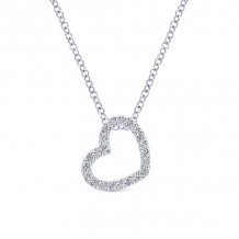 Gabriel & Co. 14k White Gold Eternal Love Diamond Necklace - NK2239W45JJ
