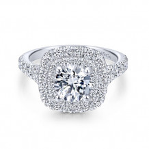 Gabriel & Co 14k White Gold Sequoia Diamond Engagement Ring - ER12675R4W44JJ