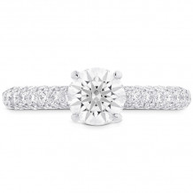 Hearts on Fire 18k White Gold Euphoria Diamond Pave Engagement Ring - HBSHEUP00568WC-C