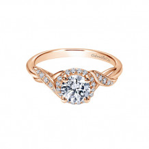 Gabriel & Co 14k Rose Gold Halo Diamond Engagement Ring - ER11828R3K44JJ