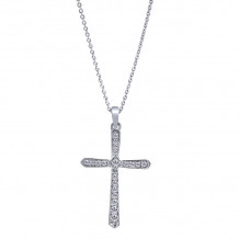 Gabriel & Co. 14k White Gold Faith Pendant Crosses - NK2214W45JJ