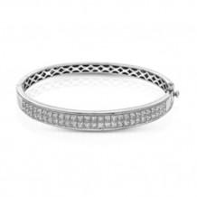 Simon G. 18k White Gold  Diamond Bangle