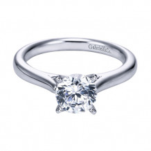 Gabriel & Co. 14k White Gold Round Solitaire Engagement Ring - ER6685W4JJJ