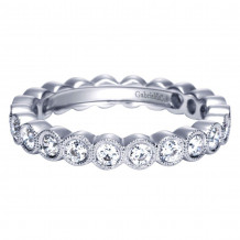 Gabriel & Co. 14k White Gold Victorian Diamond Eternity Wedding Band - AN5259-6W44JJ