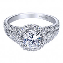 Gabriel & Co. 14k White Gold Round Halo Engagement Ring - ER5375W44JJ