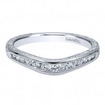 Gabriel & Co 14k White Gold Curved Anniversary Band - AN10965W44JJ