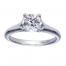 Gabriel & Co 14k White Gold Round Solitaire Engagement Ring - ER8139W4JJJ