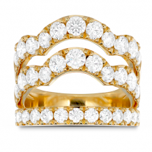 18k Gold Lorelei Triple Wave Diamond Ring