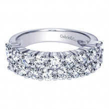 Gabriel & Co 14k White Gold Fancy Anniversary Band - AN2848W44JJ
