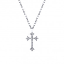Gabriel & Co. 14k White Gold Faith Pendant Crosses - NK5428W45JJ